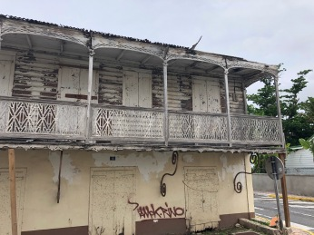 Building in downtown Marigot, after Irma